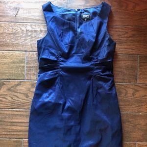 Adrianna Papell Blue Taffeta Cocktail Party Dress